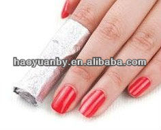 new type and design nail foil for nail polish remover with cotton