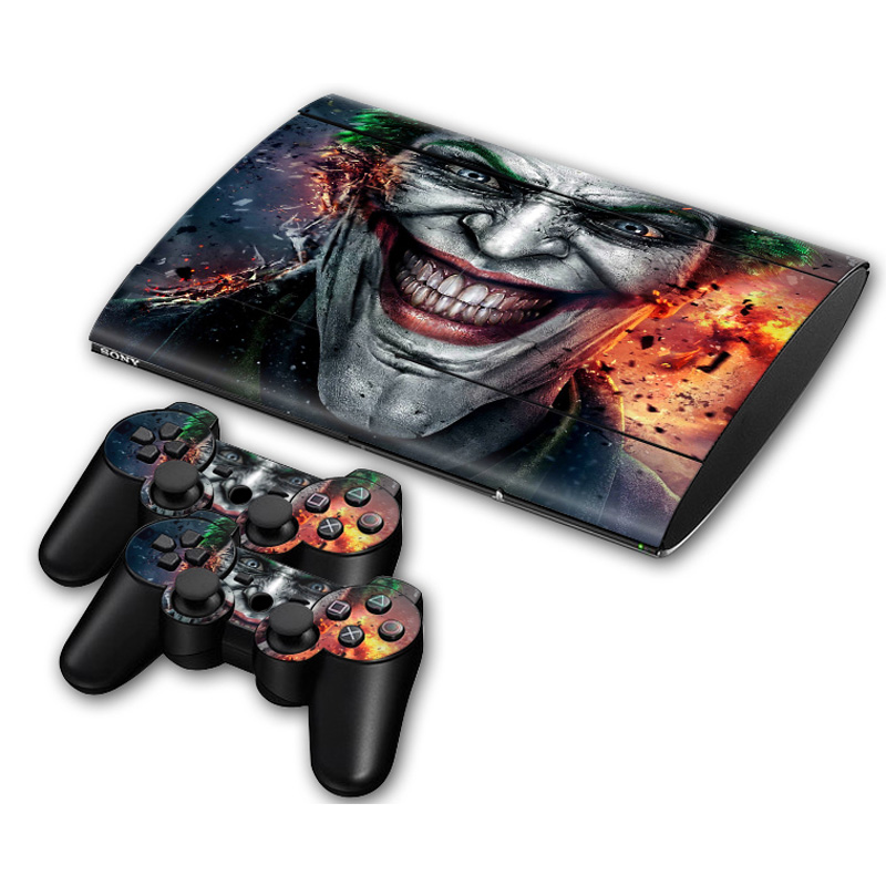 Jorker Batman PVC Skin For PlayStation 3 Slim 4000 Console Controller Sticker Decal For Sony PS 3 Slim4000 Games