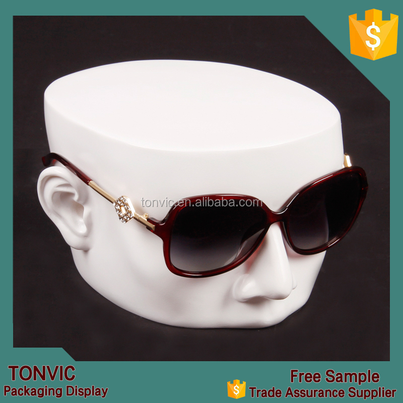Tonvic Factory White Mannequin Male Head Sunglass Eyeglass Display