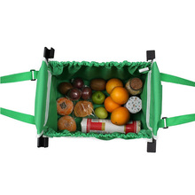 Recyclable Foldable Shopping Trolley Bag With Plastic Handle