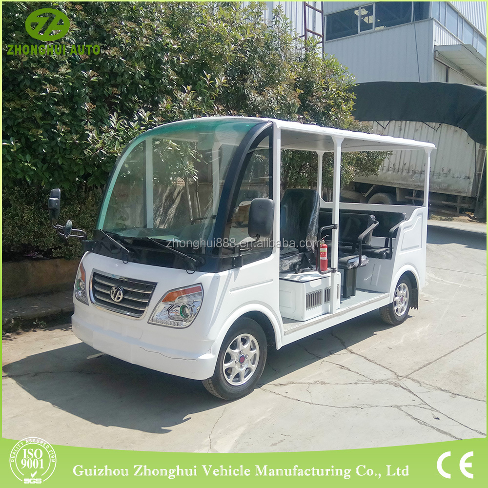 Motor electric vehicle for customized service with 14 seats
