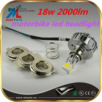 New item high brightness 2000lm led motorcycle headlight 12v small lamp