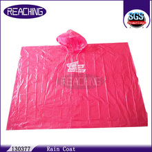 Replied In 6 Hours Logo Printed Disposable Rain Coat Plastic Rain Poncho