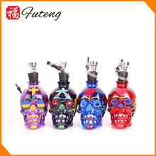 New Yiwu Futeng Wholesale Small Colorful Skull Design Metal Smoking Pipes Parts Hookahs