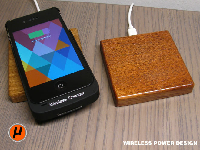 QI Micro Charger from OAK Wood