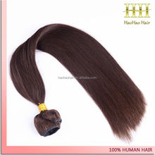 remy hair 12 inch silky straight dark brow chocolate 100% peruvian hair weave