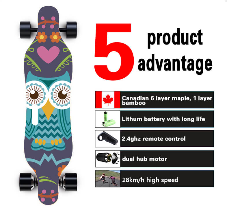 wholesale boosted board electric skateboard longboard with dual motor