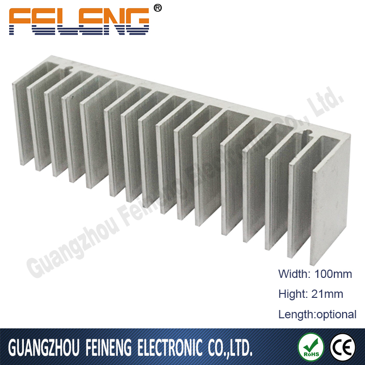 aluminum extrusion led pipe heat sink 50w extruded radiator stacked heatsink