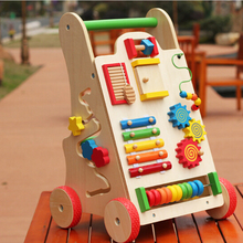 FQ brand New design childrens educational toys multifunctional wooden baby walker for kids