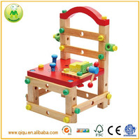 2014 new DIY kids Multi function tool chair china wooden toy