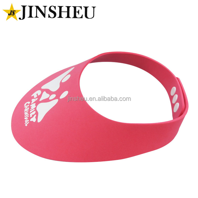 custom logo imprint promotional cheap EVA foam sun visor hat
