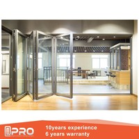 cheap interior folding doors folding patio doors and soundproof bi-fold door