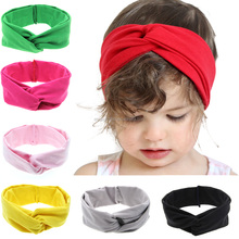 HAOXIE brand simple style elastic Baby Head Band Rabbit ear pure colour hairband/pink headbands/winter headbands