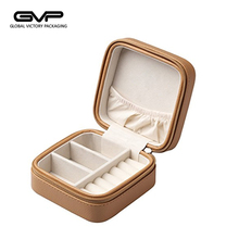Small Faux Leather Travel Jewelry Box Organizer jewelry Storage box for Rings Earrings Necklace