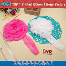 High Quality Baby Hair Accessories Various Flower Elastic Hairband For Kids Handmade Baby Headbands
