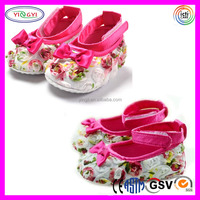 A689 Shenzhen Factory Custom Made Doll Shoes Flower Pattern Soft Making Doll Shoes