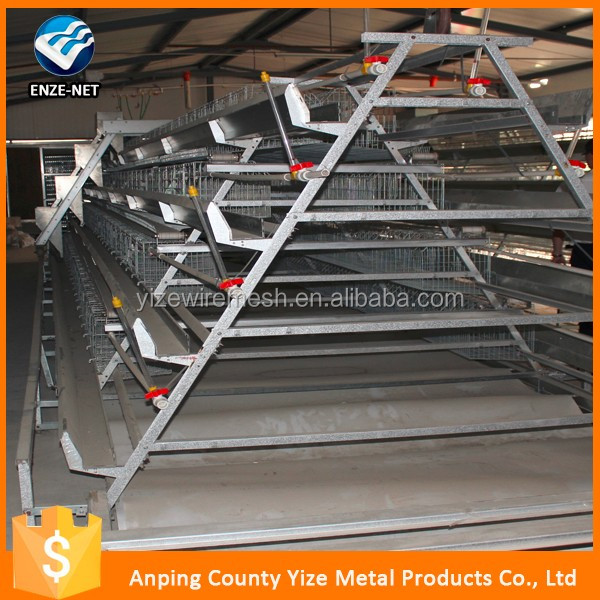 auto welded wire mesh galvanized layer e chicken cage poultry battery cage for nigerian farm