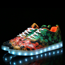 New Model Flashing USB Charge Adults Crazy LED Shoes for Sale
