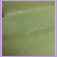 acrylic long pile white rabbit silver fox fur skin fabric wholesale