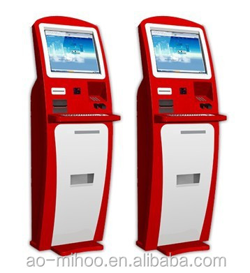 OEM 17''19'' Automatic self service ordering payment kiosk machine/bill payment kiosk/Card Reader cash Payment Kiosk Terminal