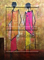 Wholesale High Quality African Canvas Abstract Art Painting Themes