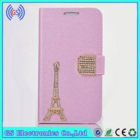 Luxury Bling Eiffel Tower Leather Case For Lenovo P780,Factory Wholesale