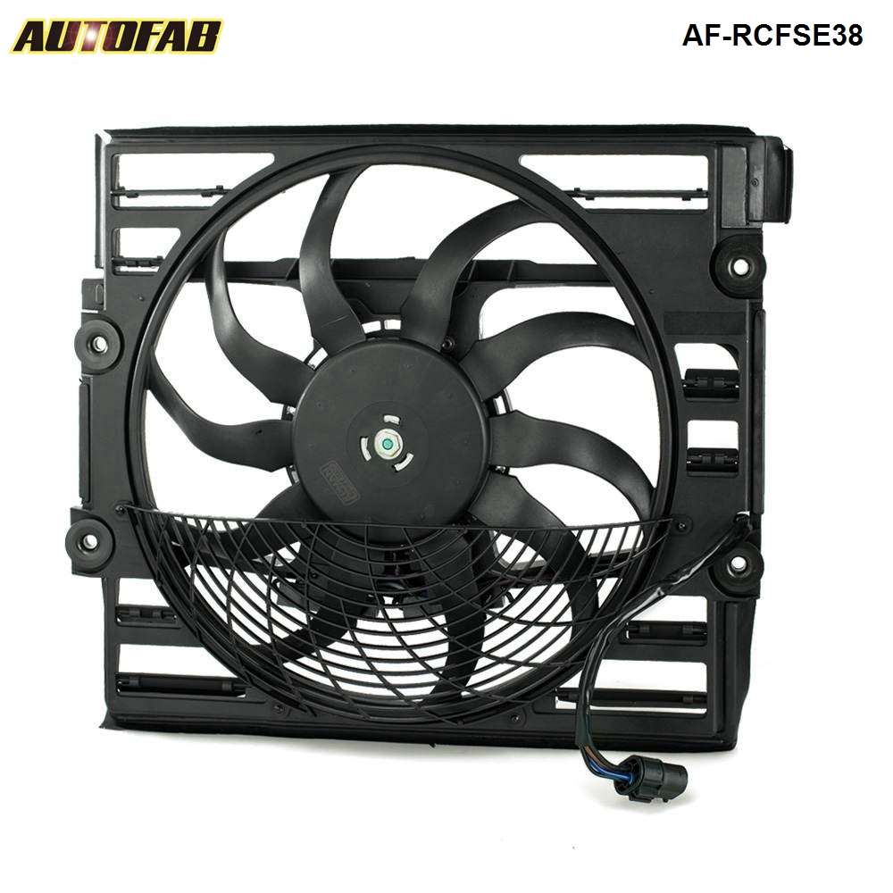 AUTOFAB-For BMW E38 740 750 1996-1998 Radiator Cooling Fan <strong>Motor</strong> Assembly 64548380774 EP-RCFSE38