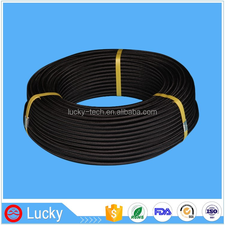 Electrical Insulation Flexible Nylon and SS Wire Woven Corrugated PTFE Tube Teflon Conduit