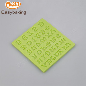 Eco-friendly numbers and alphabet silicone molds for biscuits