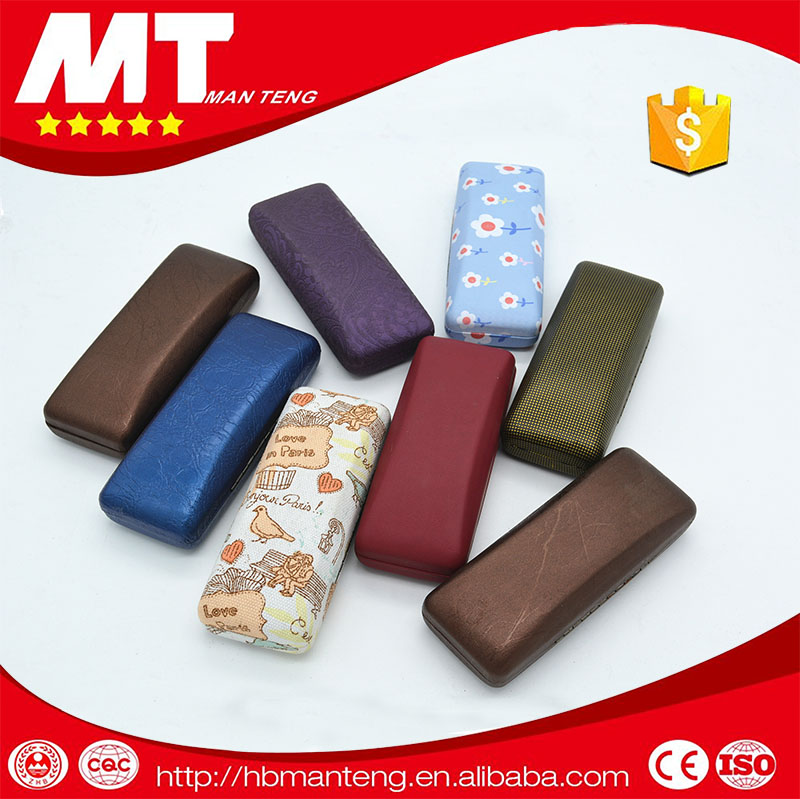 pu optical glasses metal case,funky glasses case
