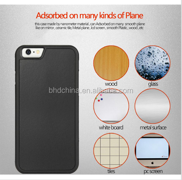 Anti Gravity Case For iPhone 7 Capa Magical Nano Suction Fundas Silicone TPU + PC Protective Cover For Apple Iphone 7 I7 4.7Inch