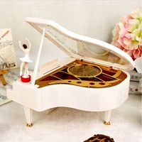 Classical Music Boxes Clockwork Type Rotary Ballerina Girl On The Piano Music Box Gifts LKT078
