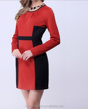Monroo autumn long sleeve latest dress designs, middle aged women fashion dress for office lady