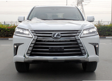 Lexus 570 OE style covert into 2016 inculding grille logo front rear bumper side trim for LX570 2016