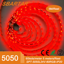 24V LED Strip 5050 <strong>RGB</strong> Color 5 Meters per Reel for Home Decoration