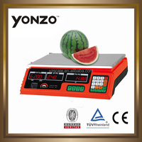 Yz-208 Colorful housing LED or LCD dual side display 4v or 6v battery electronic digital spring balance
