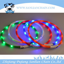2016 newest dog collar amazing christmas gift flashing LED dog collar for pets