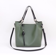 new arrival Guangzhou factory casual lady hobo bag special metal green\grey 2 in 1 handbag