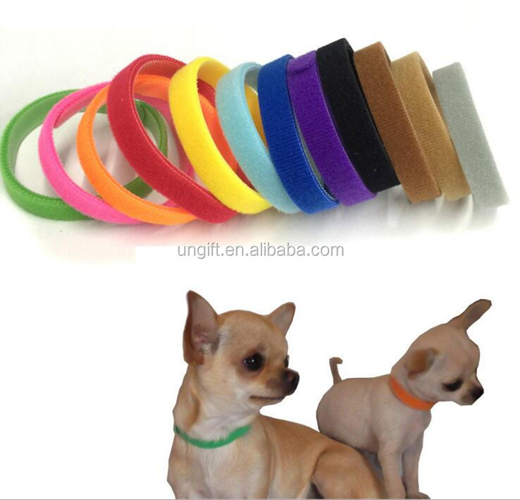 Pet dogs and cats collar identity identification collar 12 color Velcro straps tie