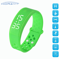 Men's Silicone Sports Bluetooth Smart Bracelet for Android Mobile Phones