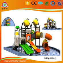 Spiral tube slide water playground for kids , water play games center ,water playground