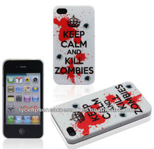 Fashion Crystal Hard Design Cell Phone Keep Calm IMD Case For Iphone 4G 4S