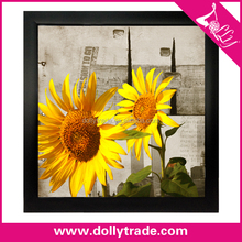 3 panel canvas wall art sunflower painting on canvas