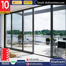 Powder coated Aluminium alloy double glazed lift and slide door with blinds between the glass