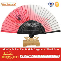 Advertising Paper Painted Technique Bamboo Hand Folding Fan