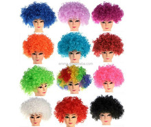 Hot sale curly afro disco clown style wig kinky Wigs fancy dress funky party wig mens/ladies/Kids costume W4064