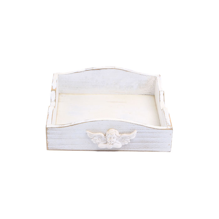 Classic Handcrafted Tableware Serving Tray With Angel Ornaments