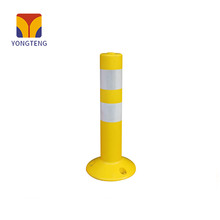 YT-J006 PU warning barrier safety plastic traffic warning queuing posts bollard