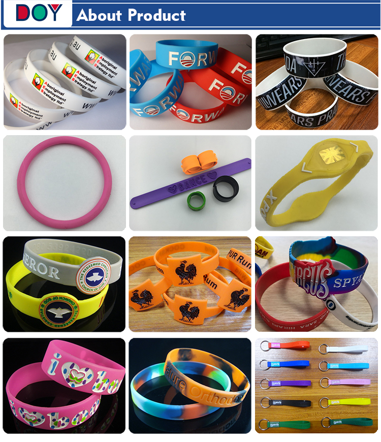 Wholesale Custom Single Color 3D Debossed Fashion Logo Bracelet Silicone Rubber Wrist Band for Sports