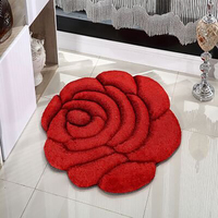 High Quality 3d flower design pattern carpet